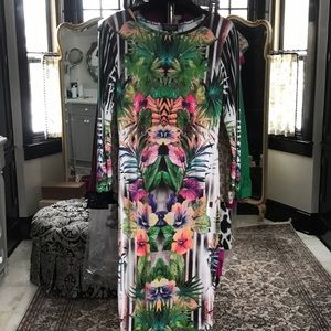 TopShop Digital Print Body Conscious Dress